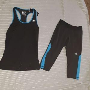 Adadis techfit crop leggings and razor back tank m